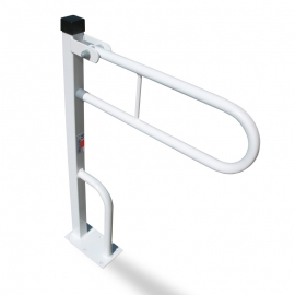 Toilet safety grab rail drop down arm
