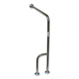 Hinged folding grab rail