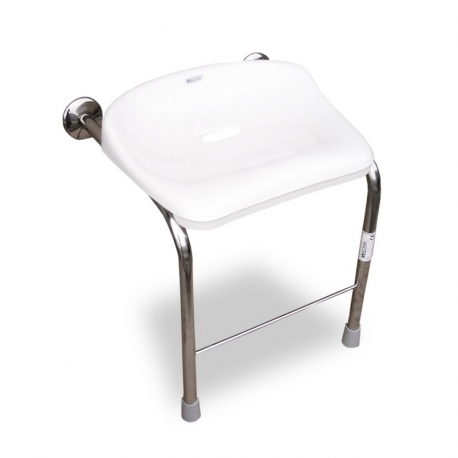 Stainless steel wall mounted shower seat