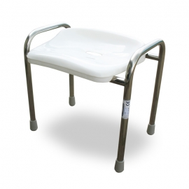 Stainless steel shower stool