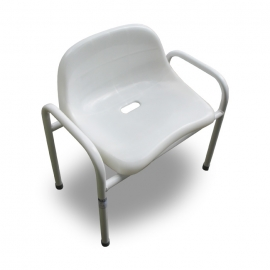 Shower seat with back rest