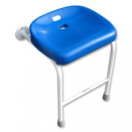 Steel White Wall Fixed Shower Seat
