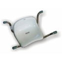 Stainless steel bath seat with backrest