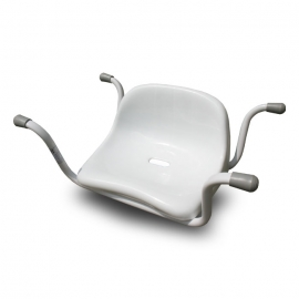 Steel white bath seat with back rest