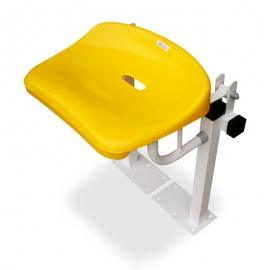 Floor fixed folding shower seat