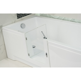 Steel white folding shower seat with legs