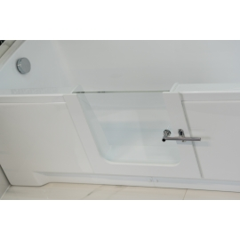 Stainless steel wall mounted shower seat with backrest