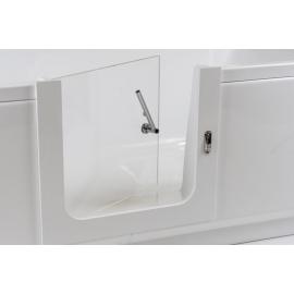 Orthopaedic bathtub door with installation