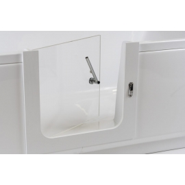 Orthopaedic bathtub door with installation