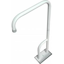 Toilet floor mounted grab rail